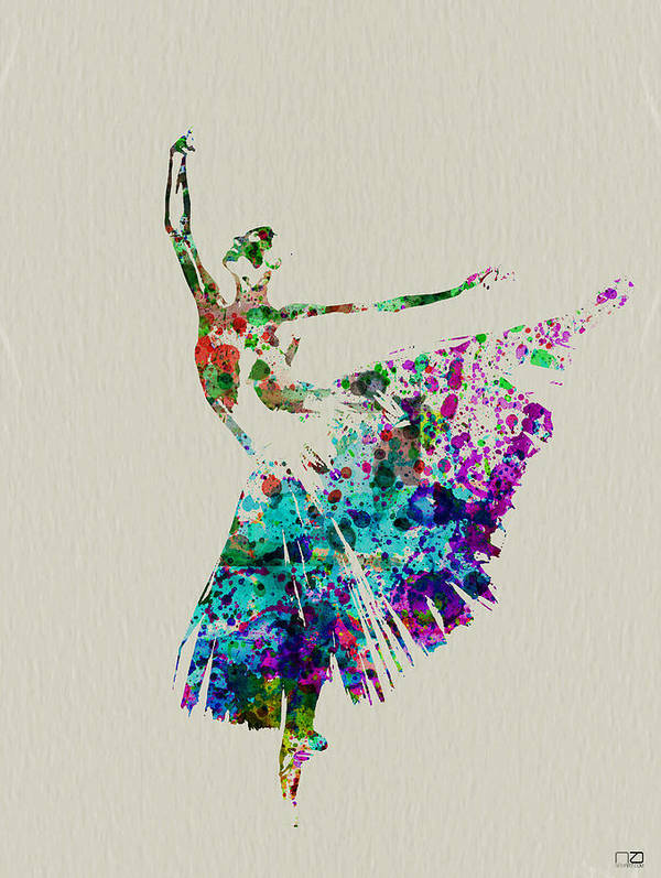 Poster featuring the painting Gorgeous Ballerina by Naxart Studio