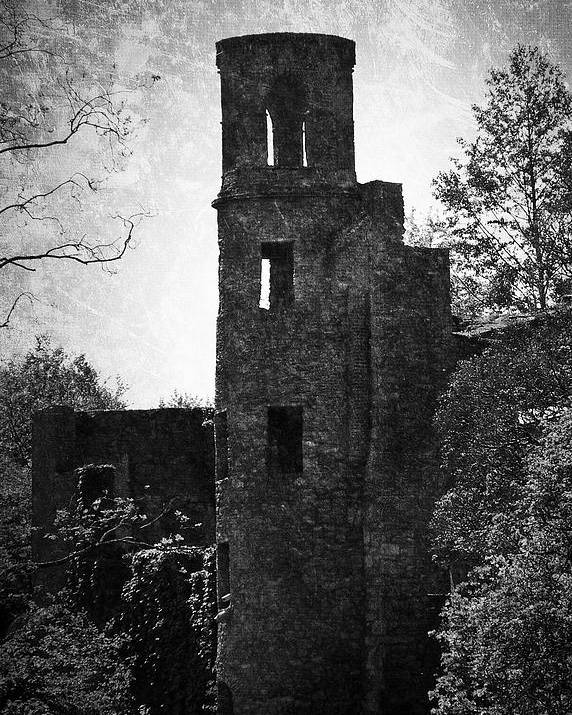 Irish Poster featuring the photograph Gothic Tower at Blarney Castle Ireland by Teresa Mucha