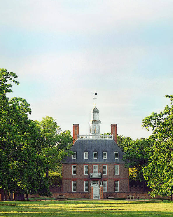 Colonial Williamsburg Photograph Poster featuring the photograph Governor Palace - Williamsburg by Panos Trivoulides