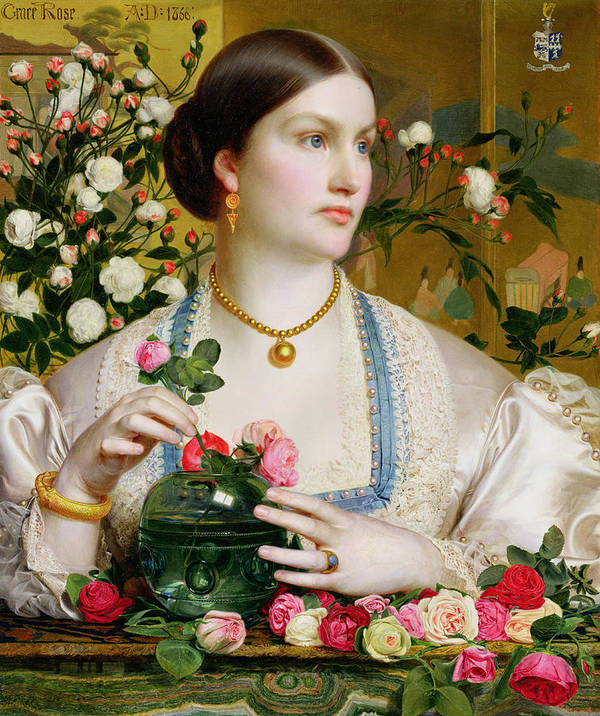 Grace Poster featuring the painting Grace Rose by Anthony Frederick Augustus Sandys