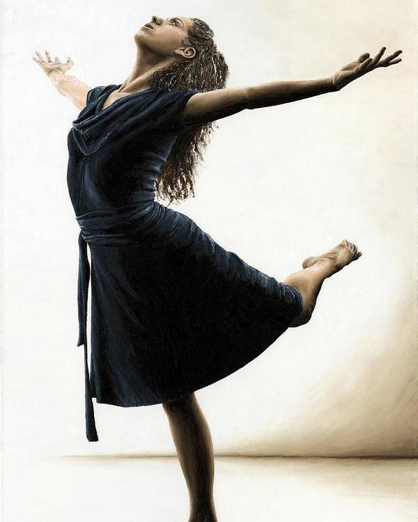 Dancer Poster featuring the painting Graceful Enlightenment by Richard Young