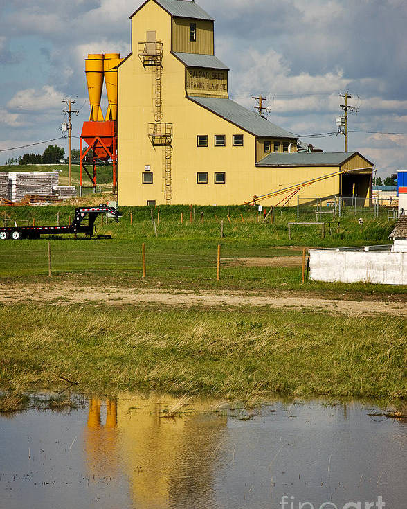 Travel Poster featuring the photograph Grain Elevator In Balzac Alberta by Louise Heusinkveld
