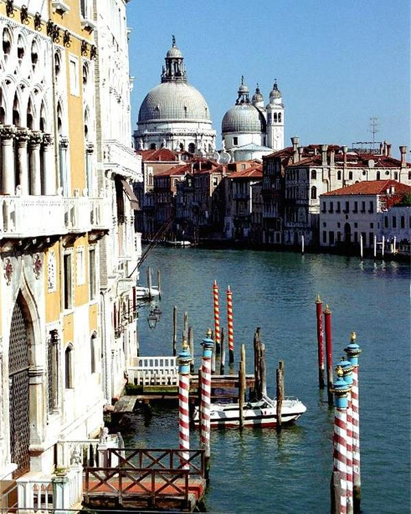 Venice Poster featuring the photograph Grand Canal In Venice From Accademia Bridge by Michael Henderson