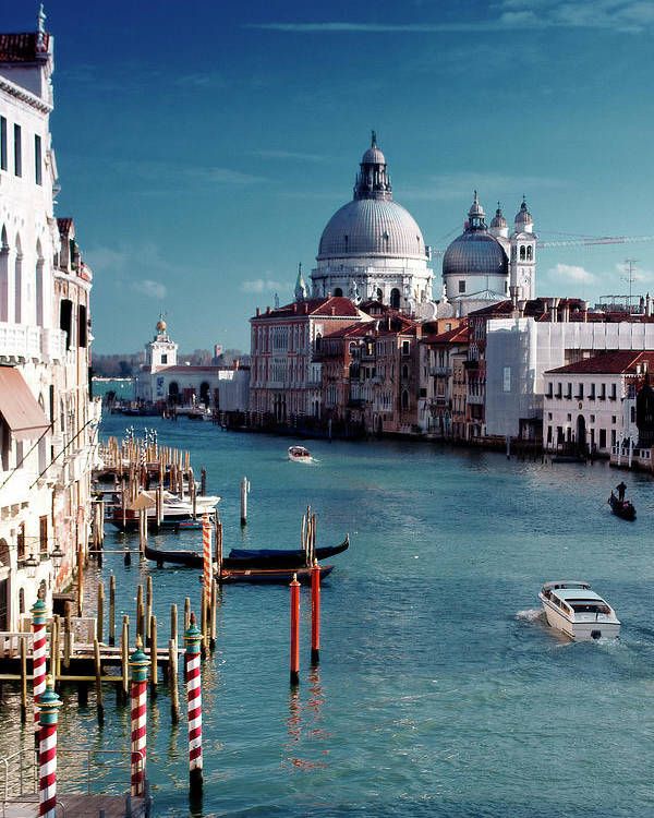 Vertical Poster featuring the photograph Grand Canal Of Venice by Michelle O'Kane