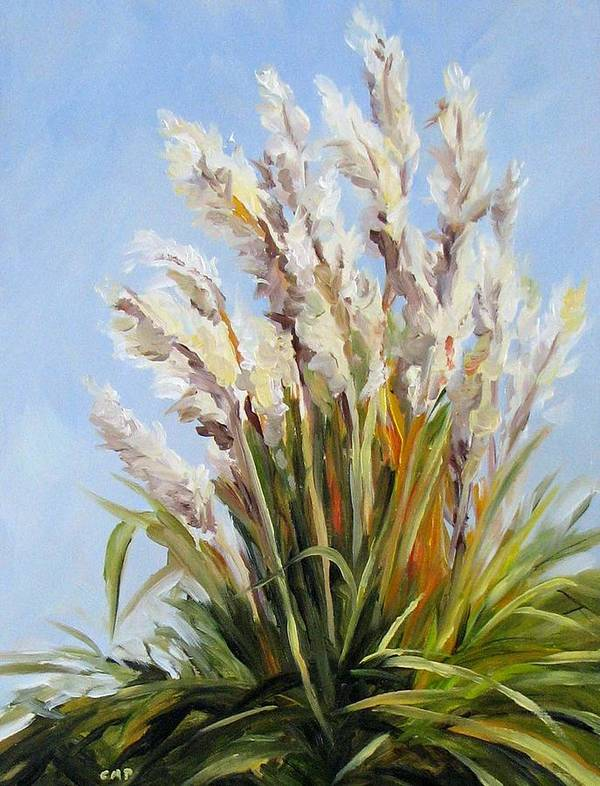 Daily Painting Poster featuring the painting Grand Pampas by Cheryl Pass