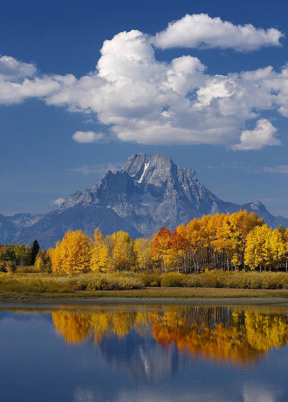 Grand Teton Poster featuring the photograph Grand Teton Xii by John Blumenkamp