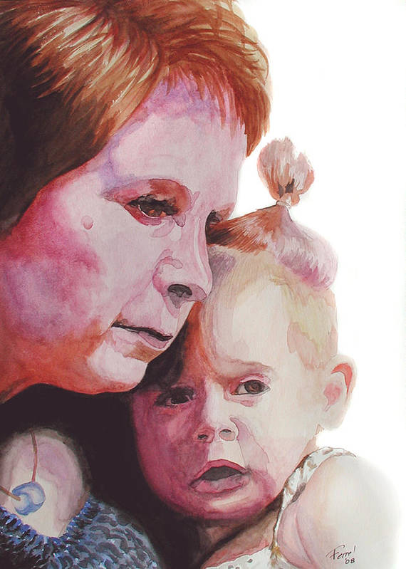 Baby Poster featuring the painting Grandchild by Ferrel Cordle