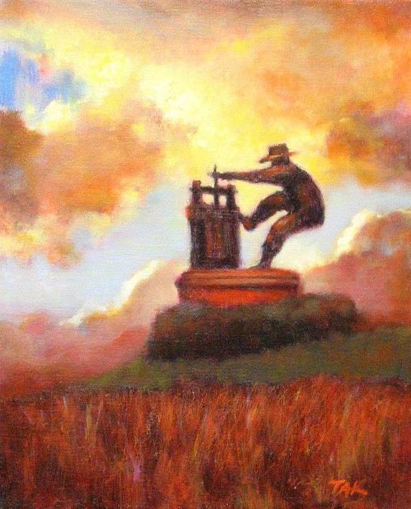 Wine Painting Poster featuring the painting Grape Crusher Sunset Cloud Napa Valley by Takayuki Harada
