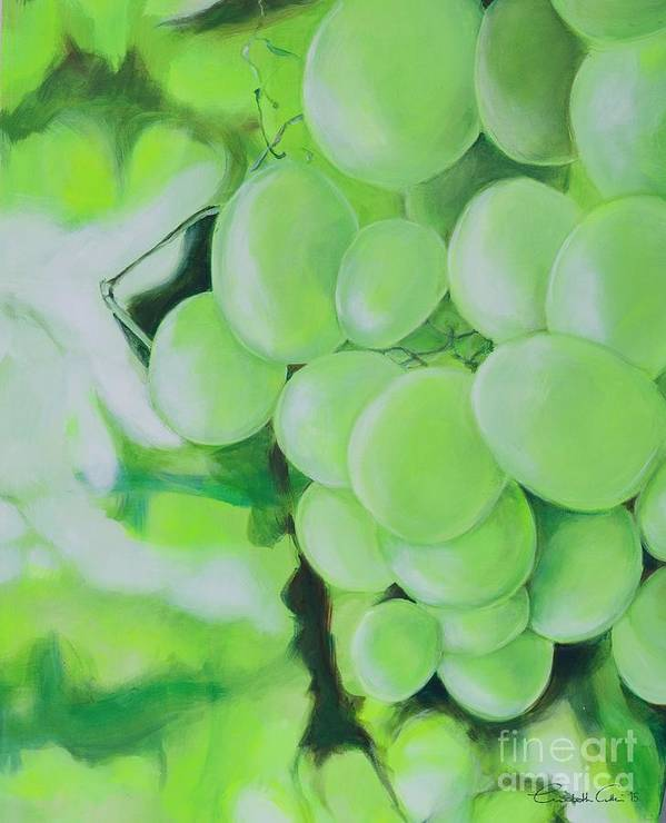Grapes Poster featuring the digital art Grapes by Elisabeth Skajem Atter