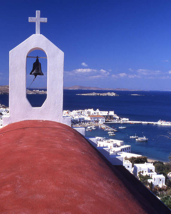 Church Poster featuring the photograph Greece. Mykonos by Steve Outram