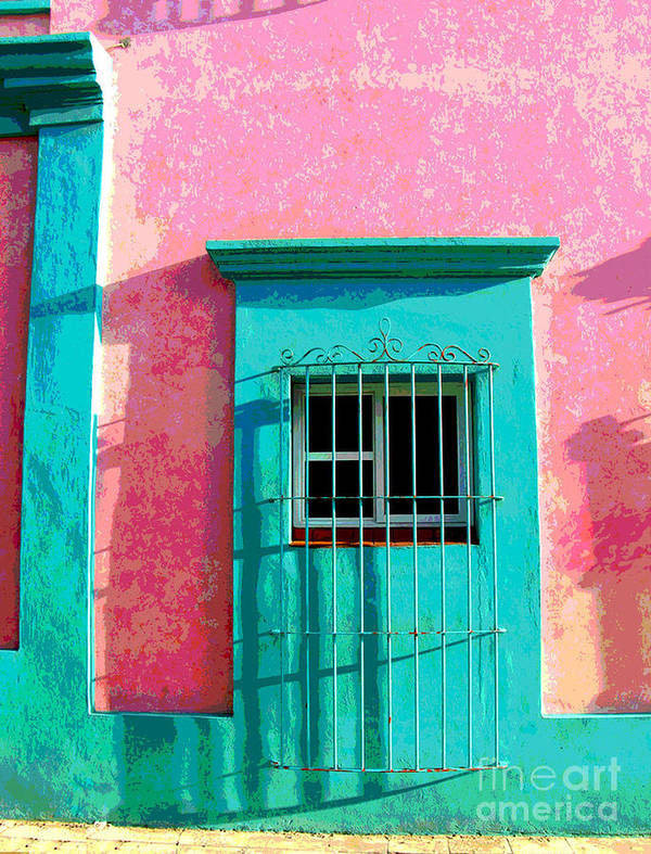 Darian Day Poster featuring the photograph Green Door By Darian Day by Mexicolors Art Photography