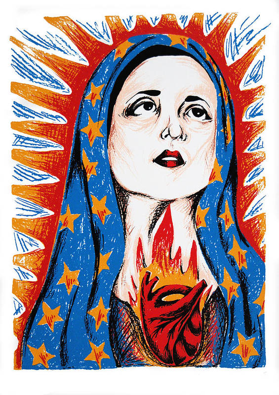 Deann Acton Poster featuring the print Guadalupe by DeAnn Acton