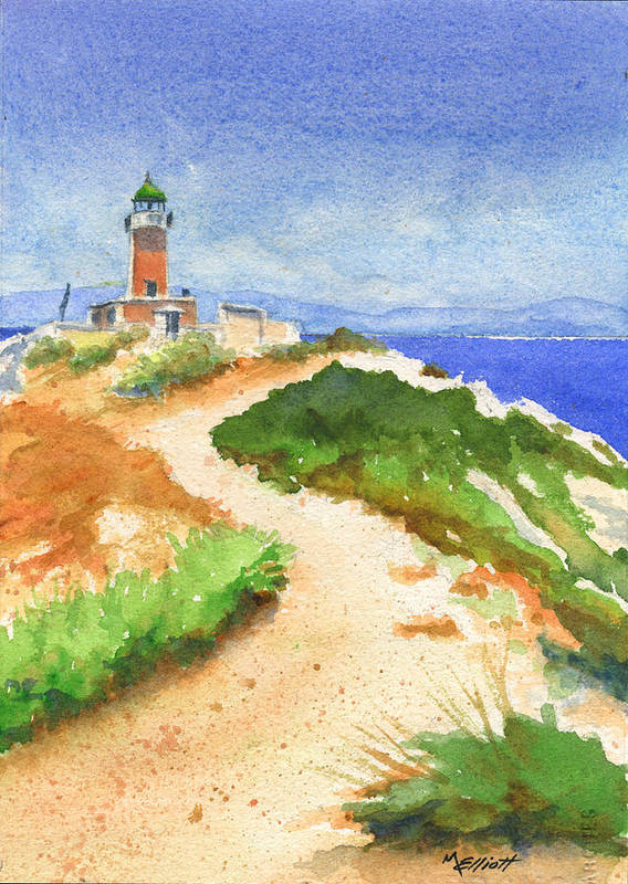Lighthouse Poster featuring the painting Guiding Light by Marsha Elliott