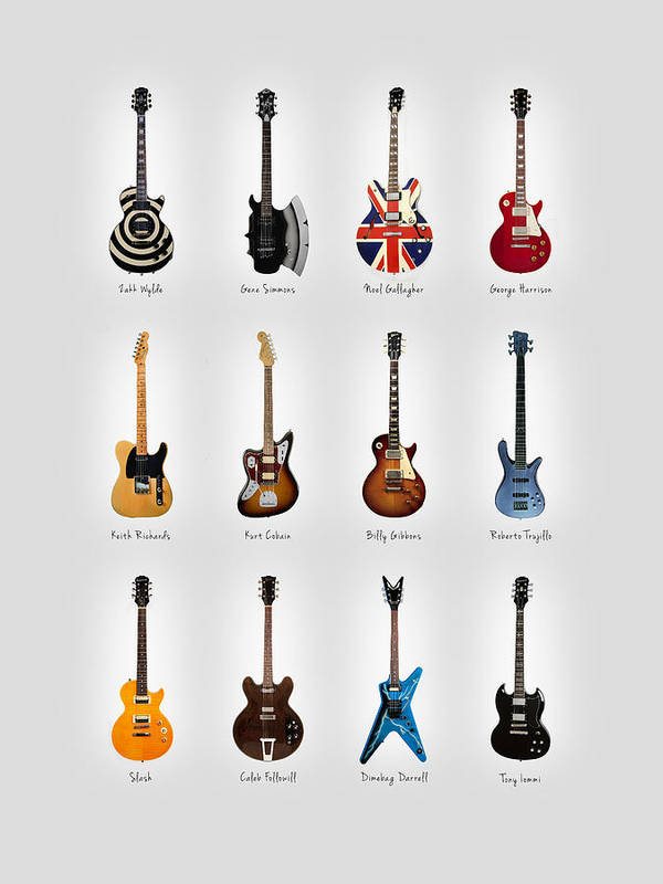 Fender Stratocaster Poster featuring the photograph Guitar Icons No3 by Mark Rogan