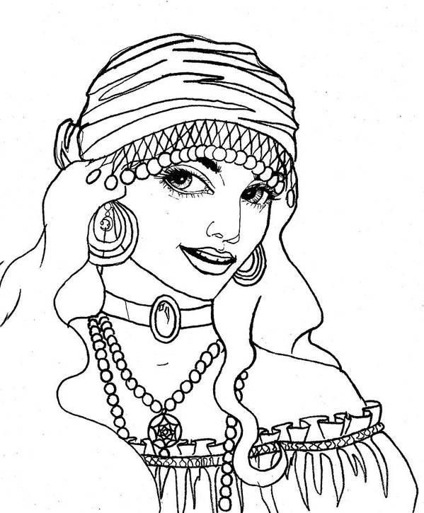 Pen And Ink Poster featuring the drawing Gypsy Sketch by Scarlett Royal