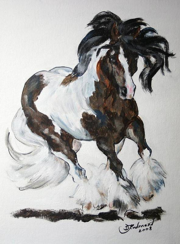 Paint Poster featuring the painting Gypsy Vanner by BJ Redmond