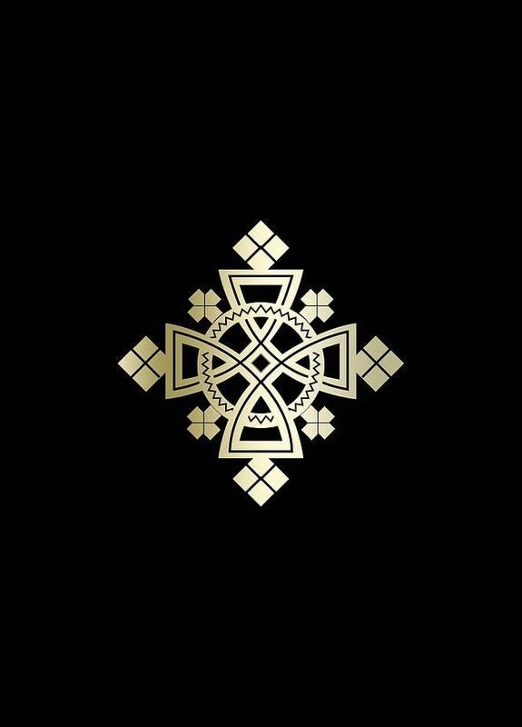 Habesha Poster featuring the digital art Habesha Holy Cross by Filmon Tesfatsion