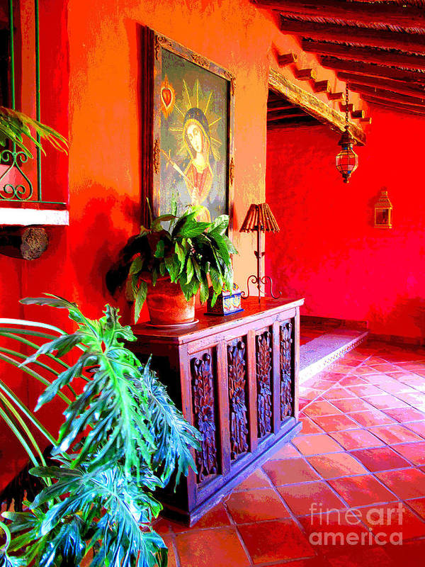 Darian Day Poster featuring the photograph Hacienda By Darian Day by Mexicolors Art Photography