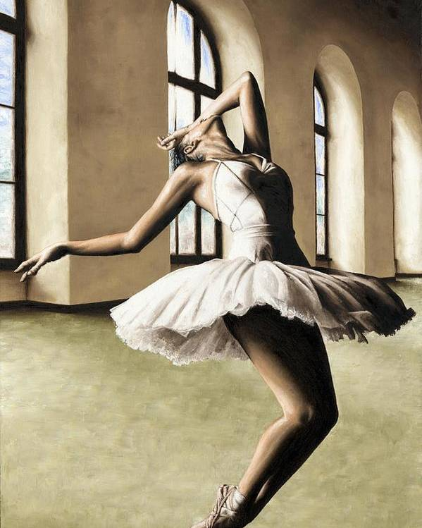 Dancer Poster featuring the painting Halcyon Ballerina by Richard Young