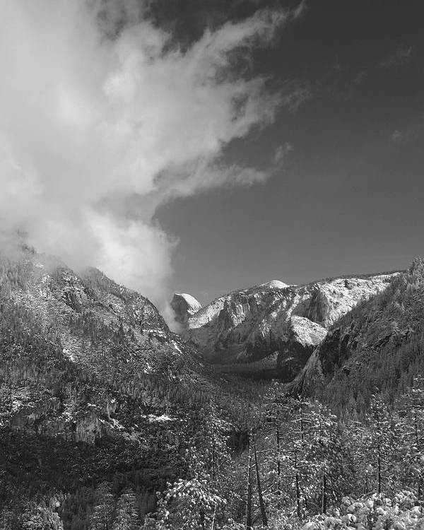 Half Dome Poster featuring the photograph Half Dome Winter by Travis Day
