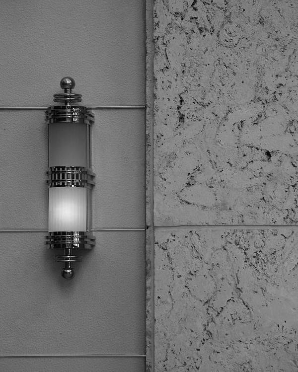 Sconce Poster featuring the photograph Half Lit Wall Sconce by Rob Hans