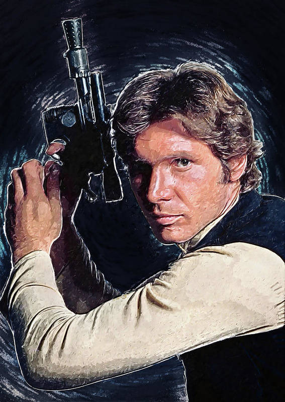 Han Solo Poster featuring the digital art Han Solo by Zapista OU