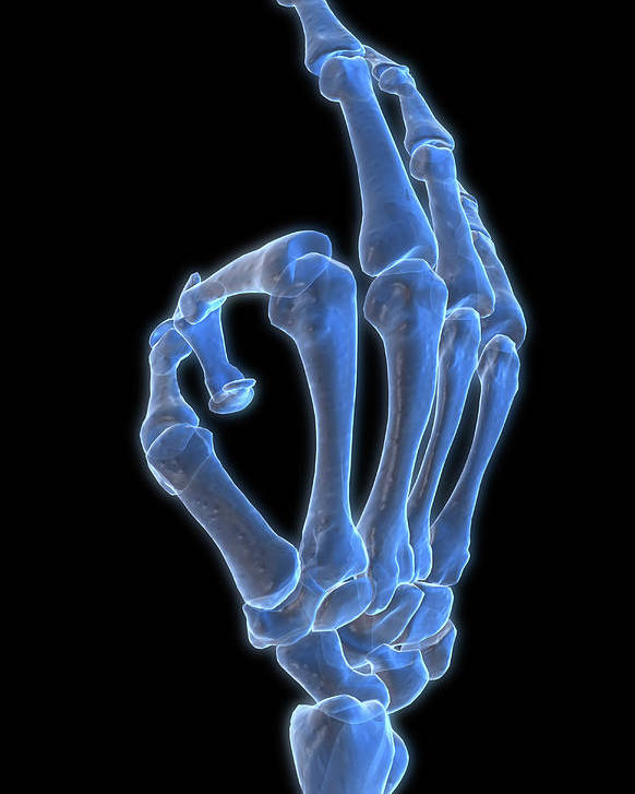 Vertical Poster featuring the photograph Hand Gesture by MedicalRF.com