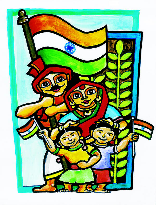Happy Indian Family Poster By Rejen