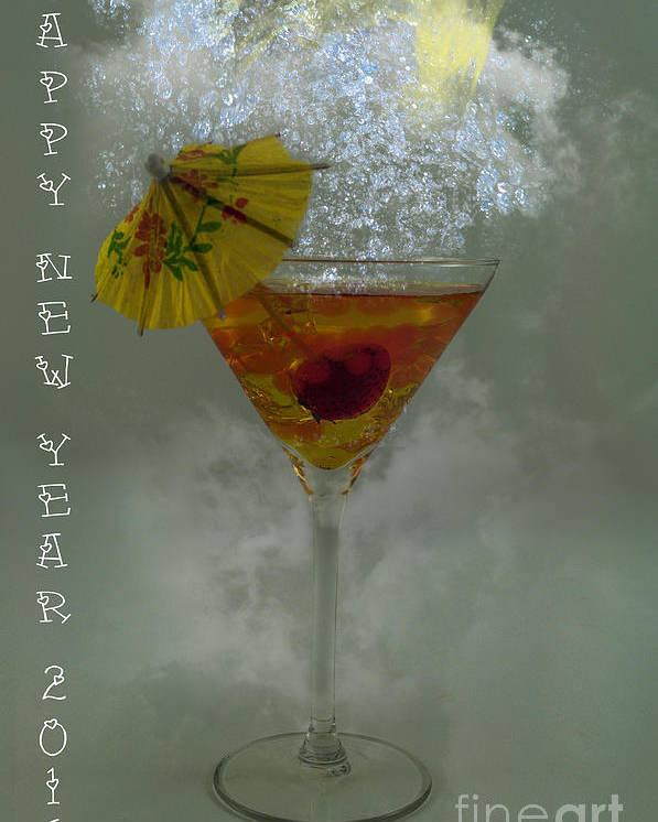 Happy New Year Poster featuring the digital art Happy New Year 2016 by Barbara Dudzinska