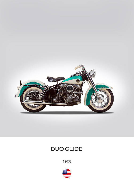 Duo-glide Poster featuring the photograph Harley-davidson Duo-glide by Mark Rogan