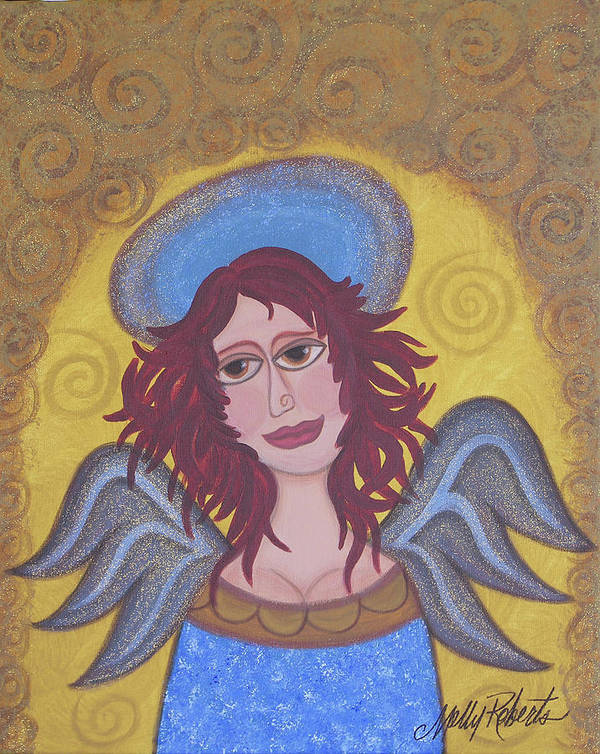 Angel Poster featuring the painting Harried Harriet by Molly Roberts