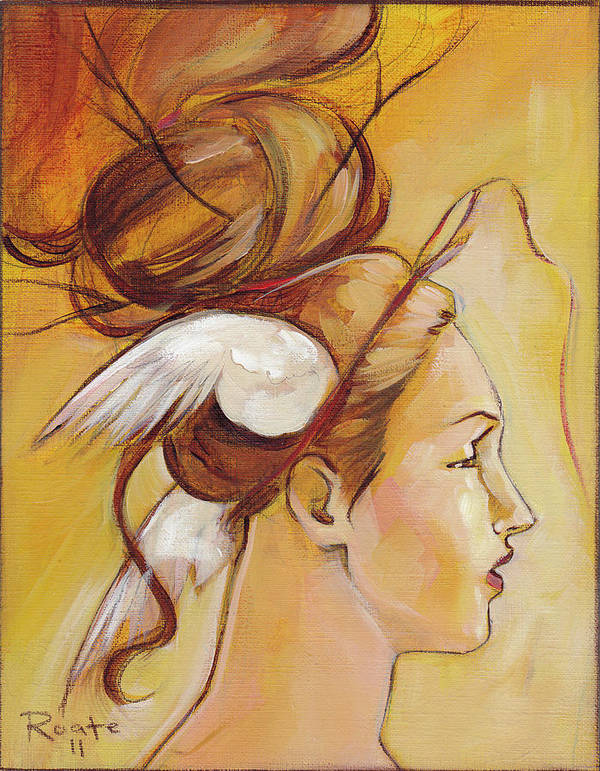 Woman Poster featuring the painting Harriett by Jacque Hudson