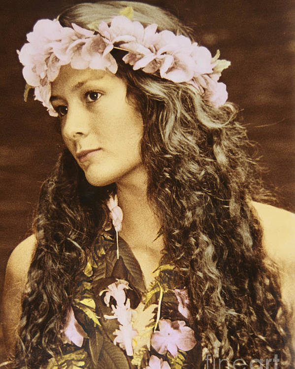 Afternoon Poster featuring the photograph Hawaiian Wahine by Himani - Printscapes