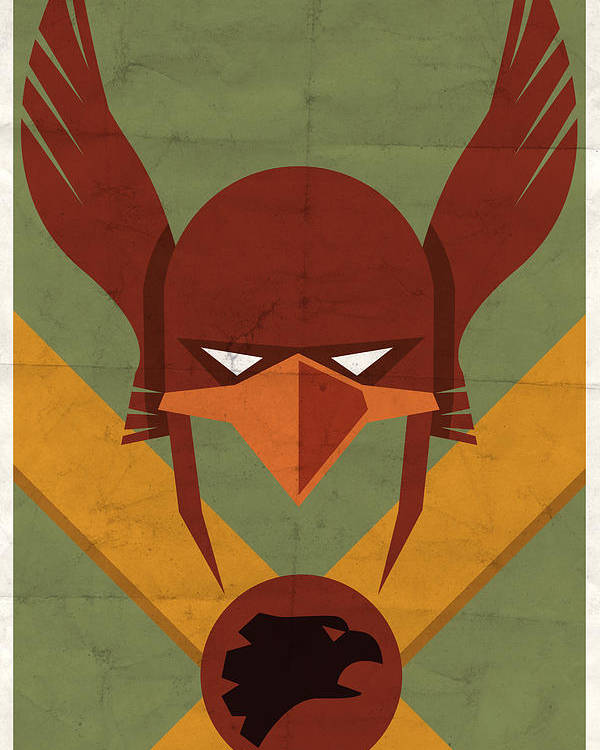 Dc Poster featuring the digital art Hawkman by Michael Myers