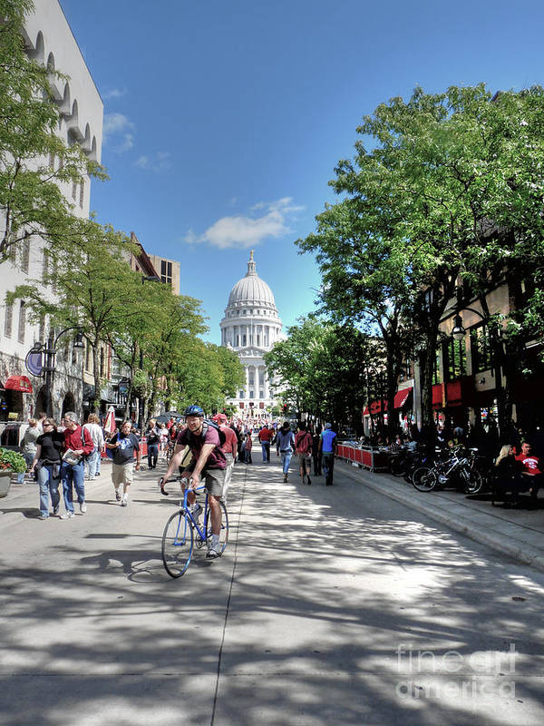 Madison Wisconsin Poster featuring the photograph Heading To Camp Randall by David Bearden