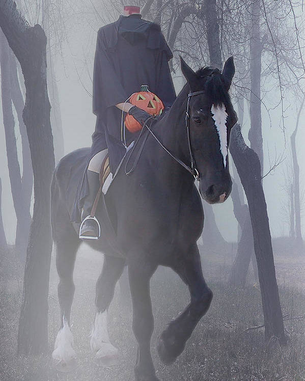 Halloween Poster featuring the photograph Headless Horseman by Christine Till