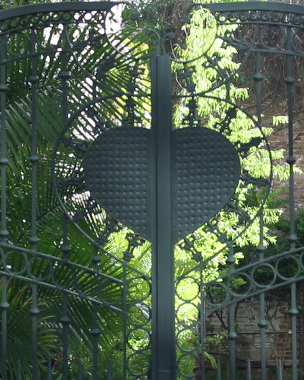 Heart Poster featuring the photograph Heart Gate by Marilyn Barton
