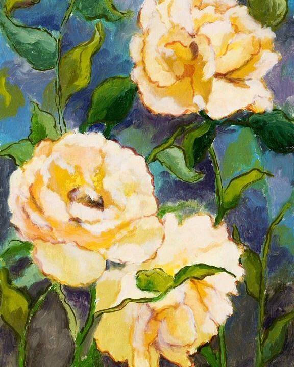 Roses Poster featuring the painting Heaven On Earth Roses by Brenda Williams
