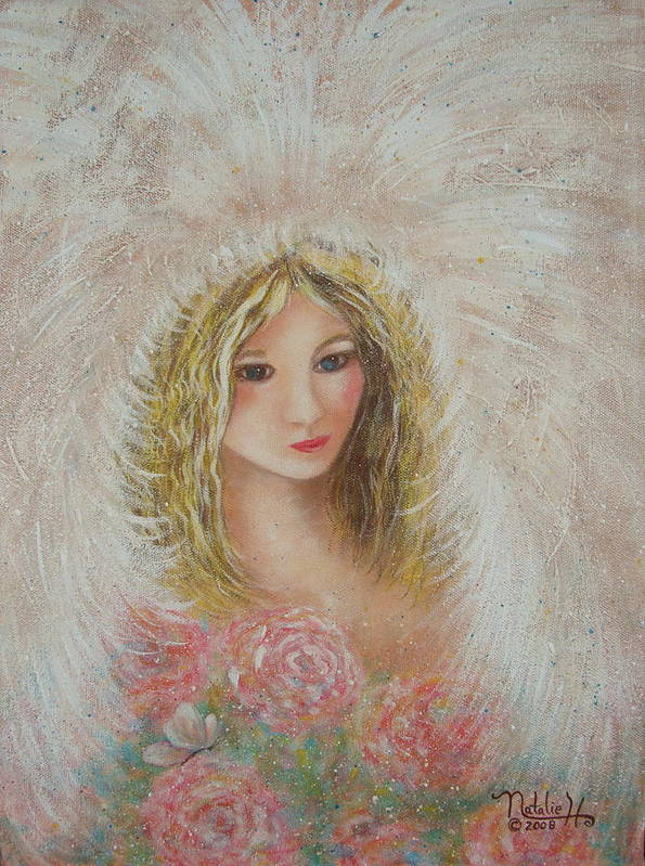 Angel Poster featuring the painting Heavenly Angel by Natalie Holland