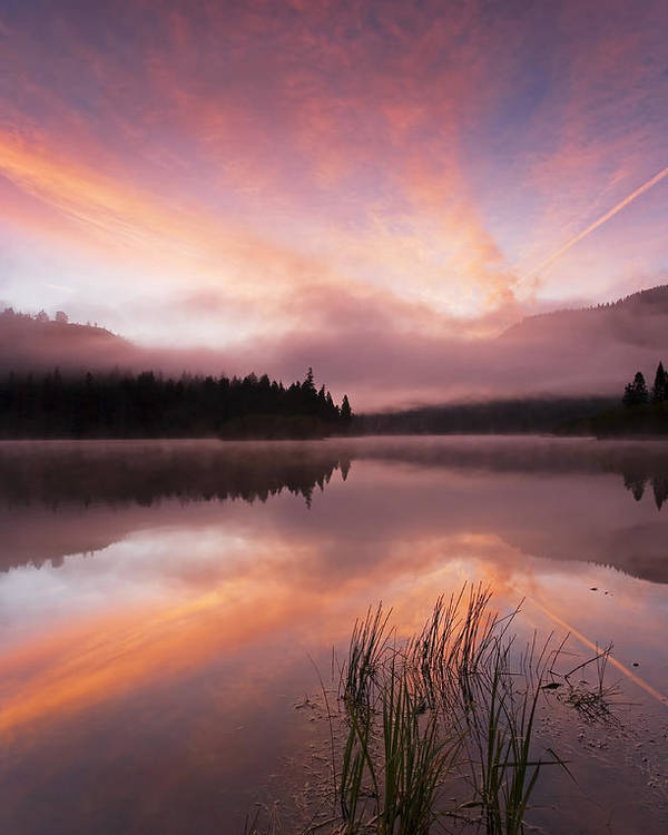 Sunrise Poster featuring the photograph Heavenly Skies by Mike Dawson