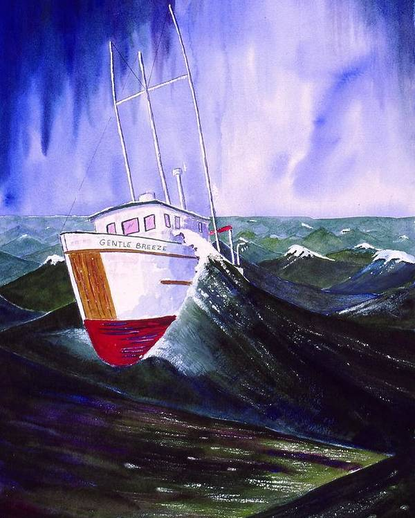 Seascape Poster featuring the painting Heavy Water by Buster Dight