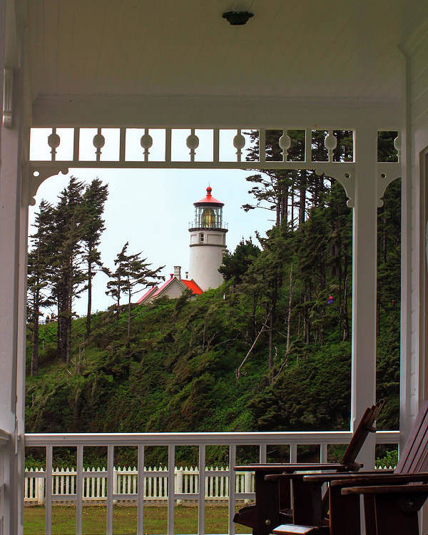 Heceta Poster featuring the photograph Heceta Lighthouse by Janine Moore
