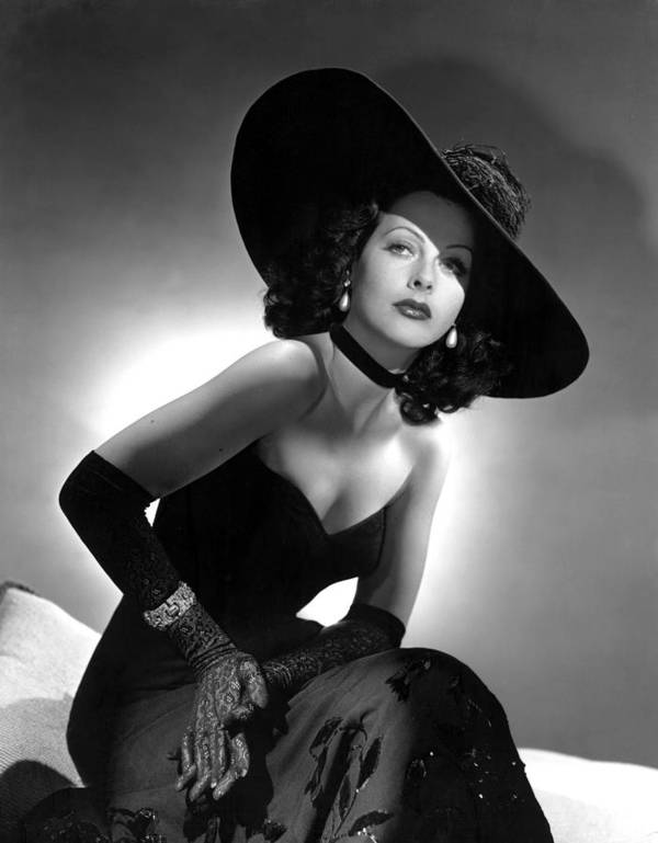Black Dress Poster featuring the photograph Hedy Lamarr by Everett