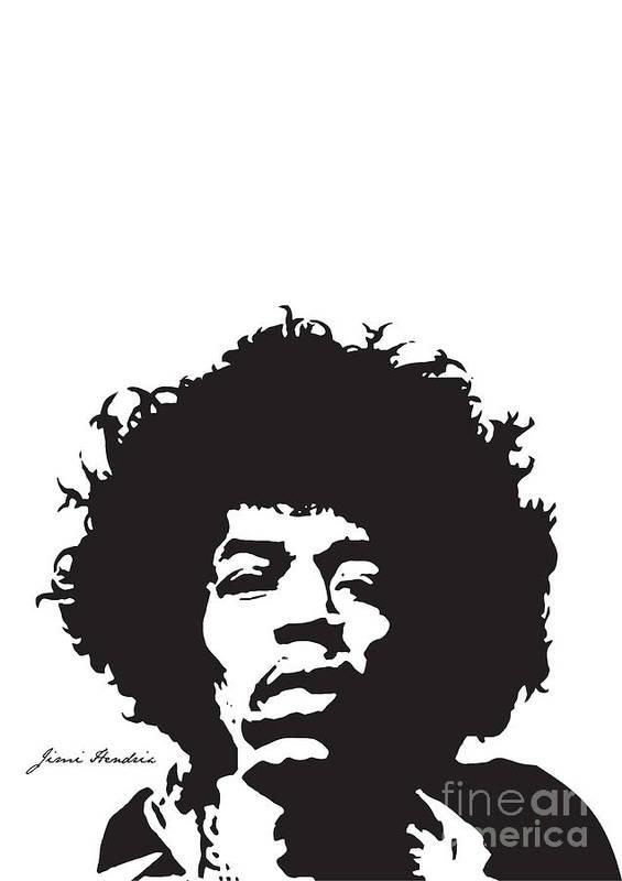 Hendrix Poster featuring the digital art Hendrix No.01 by Caio Caldas