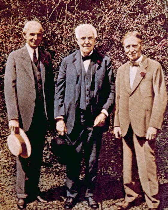 Edison Poster featuring the photograph Henry Ford, Thomas Alva Edison, Harvey by Everett