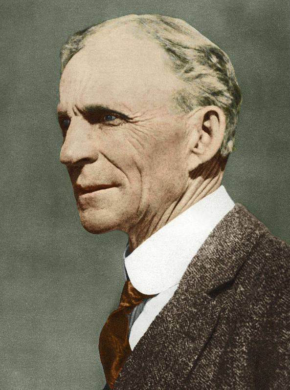 Henry Ford Poster featuring the photograph Henry Ford, Us Car Manufacturer by Sheila Terry