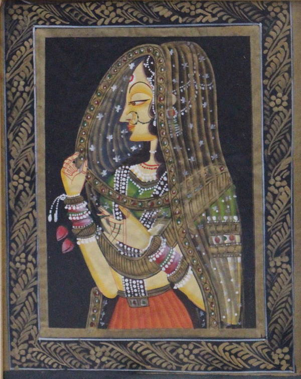 Woman Poster featuring the painting Her Grace by Bhavishya Yadav