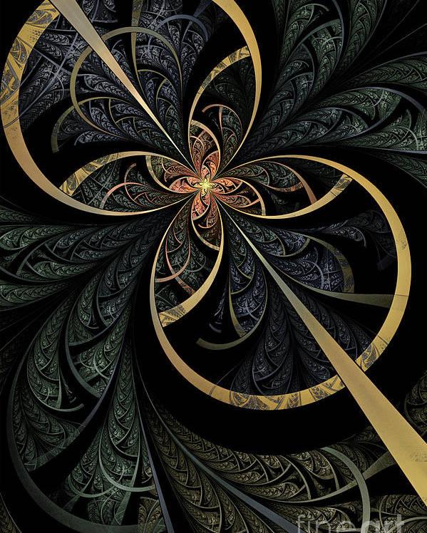 Flame Fractal Poster featuring the digital art Hidden Depths by John Edwards