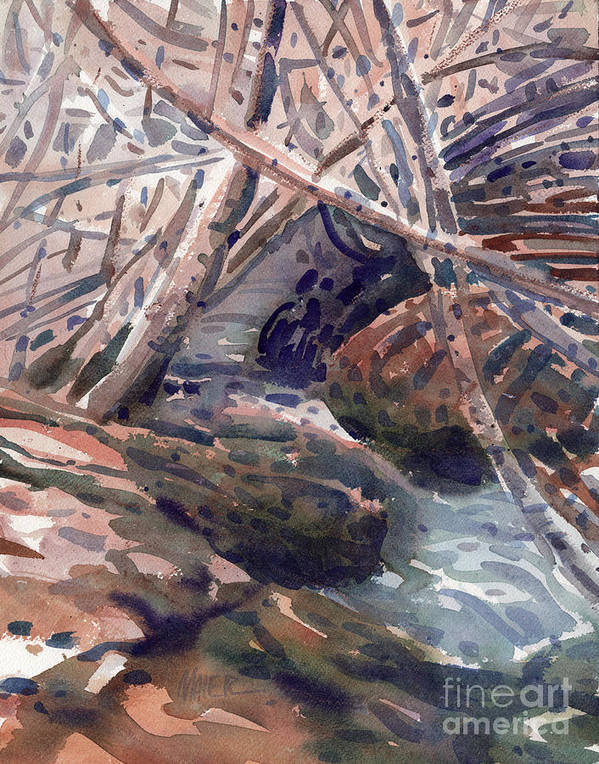 Stream Poster featuring the painting Hidden Stream by Donald Maier