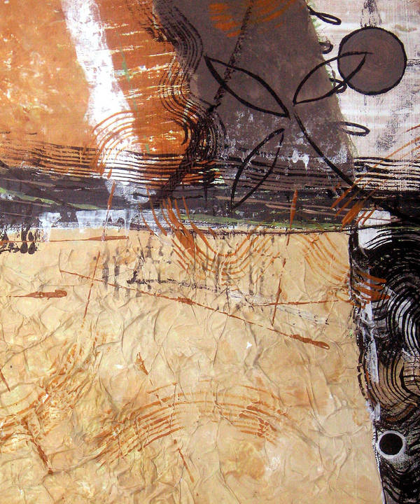 Abstract Poster featuring the painting Hidden Treasures II by Ruth Palmer